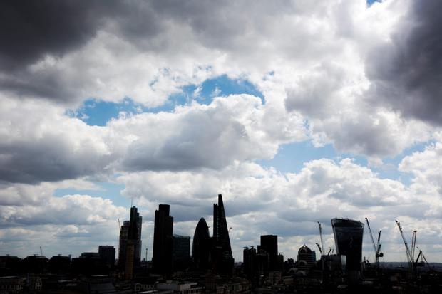 The predicted gloom over the City of London hasn't yet materialised. Photo: Bloomberg