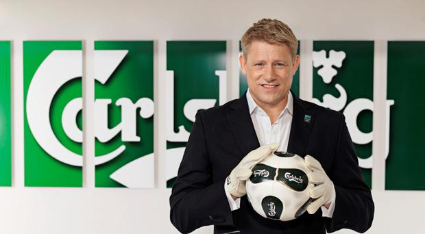 Danish football legend Peter Schmeichel at a Euro 2016 campaign launch for Carslberg