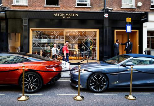 The new Aston Martin store in London's Mayfair area Photo: Bloomberg