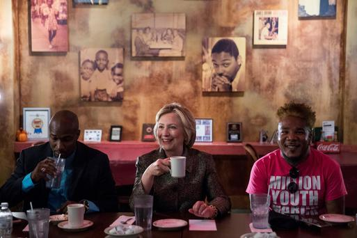 Hillary Clinton on the campaign trail in North Carolina Picture: AP