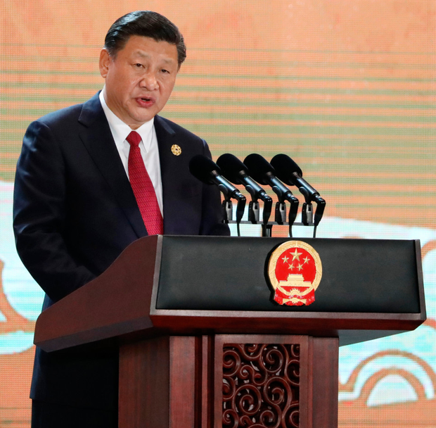 Xi Jinping, China's president, speaks during the Asia-Pacific Economic Co-operation (Apec) CEO Summit in Da Nang, Vietnam, at the weekend Photo: SeongJoon Cho/Bloomberg