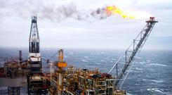North Sea volumes rising faster than expected. Photo: PA
