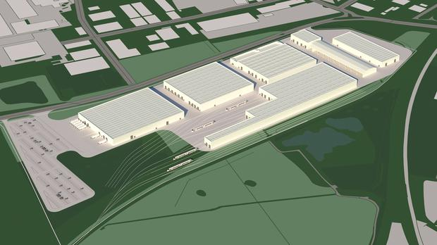 Plan of proposed new Siemens train factory at Goole (Siemens/PA)