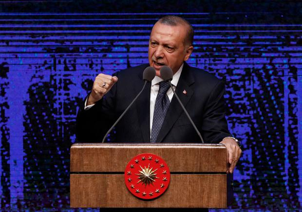 Erdogan warns of campaign against Turkey as lira plummets