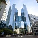 Revenue hit: Societe Generale, which has its headquarters in the La Defense business district in Paris, is the latest French bank to suffer poor results