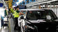 Jaguar Land Rover staff in England