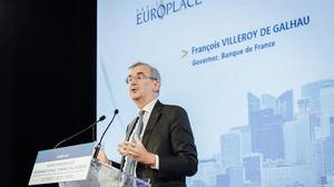 Governor of the Bank of France Francois Villeroy de Galhau. Photo: Cyril Marcilhacy/Bloomberg