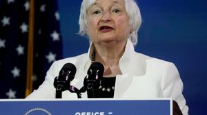 Overheat: US Treasury Secretary Janet Yellen warned interest rates could rise. Photo: Reuters/Leah Millis