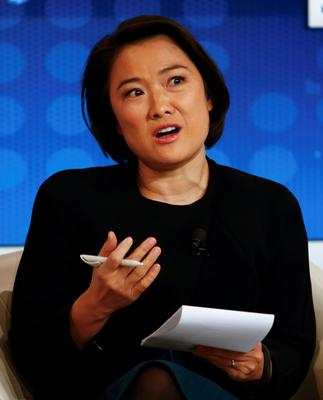 Zhang Xin, Chief Executive Officer and Co-Founder of SOHO China attends The New Growth Context event at the World Economic Forum.