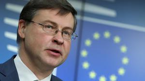 EU trade chief Valdis Dombrovskis is in 'intensive' talks with US. Photo: Yves Herman/Reuters