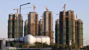 Residential buildings under construction at Evergrande Cultural Tourism City, a project developed by China Evergrande Group, in Suzhou's Taicang, Jiangsu province, China. Photo: Reuters