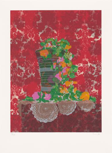 Still Life with Artificial Flowers by Hurvin Anderson will be displayed in diplomatic buildings throughout the world. (Hurvin Anderson)