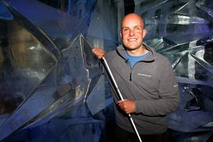 Mark Pollock at the launch of the Amundsen Omega 3 South Pole Race 2008