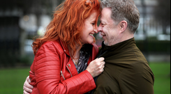 Eddi Reader and her Husband John Douglas. Photo: Steve Humphreys