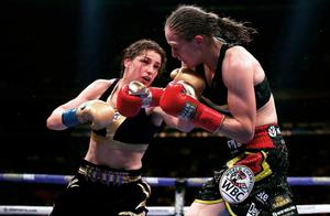 Katie Taylor in action against Persoon