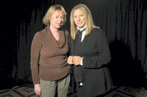'Barbra Streisand is a warm interviewee who comes with plenty of stories about life off stage, but her people control the lighting, so dark curtains hang everywhere when you meet her'
