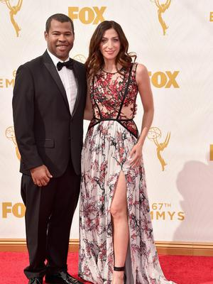 Seeing the funny side: Peele with his actress wife Chelsea Peretti