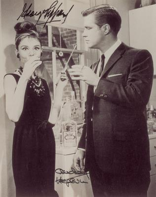 Audrey Hepburn with George Peppard