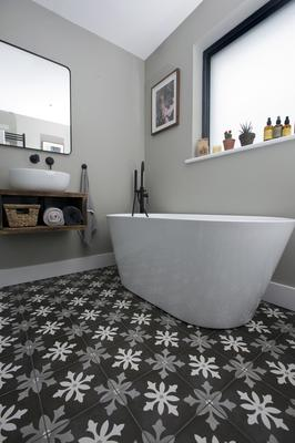 All the bathware in the house is from drench.co.uk and the tiles are from Tile Merchants