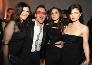 Ali Hewson with her husband, U2 frontman, Bono and daughters Jordan and Eve