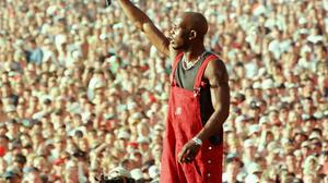 DMX performing at Woodstock in 1999. Photo: REUTERS/Joe Traver/File Photo