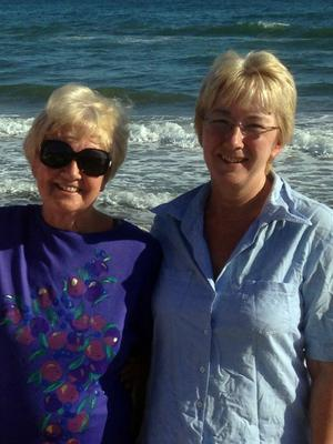 Hot spot: Mary Hanafin and her mother Mona