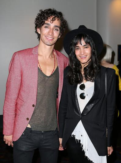 Robert Sheehan with girlfriend actor Sofia Boutella