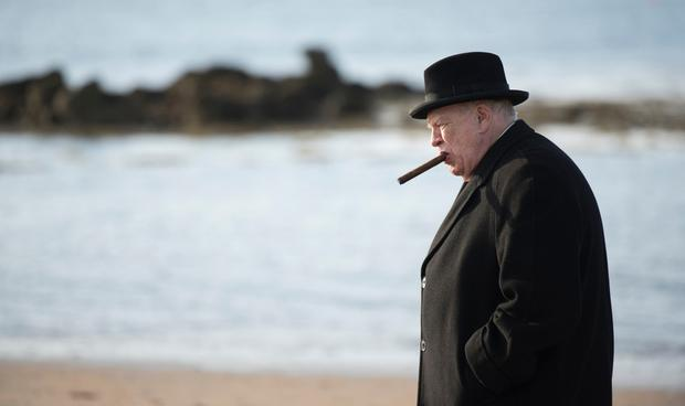 Fighting them on the beaches: Brian Cox steps into Winston's shoes in Churchill