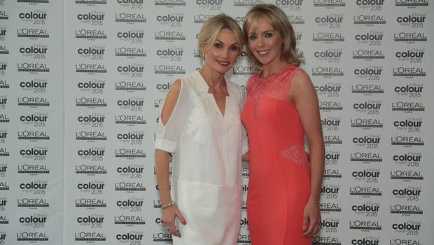 Angie Dromgoole and Andrea Martin pictured at the L'Oreal Colour Trophy Awards 2015 which took place in the O'Reilly Hall, UCD, Dublin (22nd June 2015).