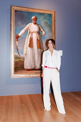 Victoria Beckham is photographed at Sotheby's in New York for the launch of The Female Triumphant (Tom Newton)