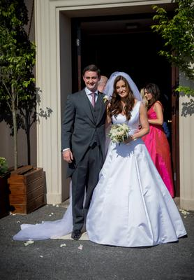The happy couple: Mairéad with her husband Louis Ronan at their wedding in Ballyclerihan, Co Tipperary
