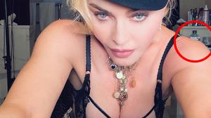 Madonna posted a picture of herself, with a tub of Sudocrem visible just over her shoulder