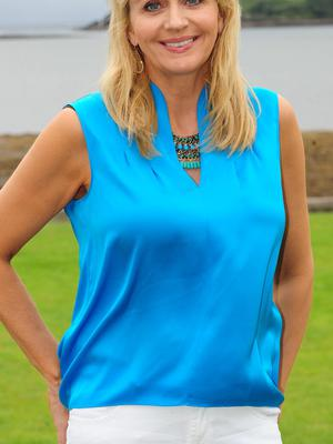 Miriam O'Callaghan, in Dingle, one of her favourite places