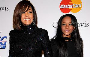 The late Whitney Houston pictured with her daughter Bobbi Kristina