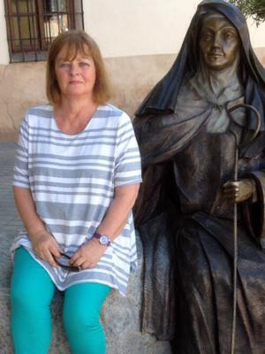 The way of the saint: Eleanor Goggin with a statue of St Theresa