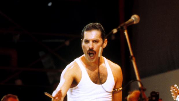 Freddie Mercury of Queen on stage (PA)