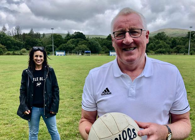 Lucy Kennedy and Pat Spillane on Living with Lucy. Photo: Virgin Media TV