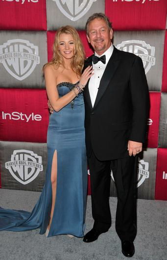 Blake Lively and her father Ernie Lively. Picture: Getty