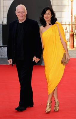 Pink Floyd's David Gilmour and Polly Samson, who wrote some of the band's lyrics early in their relationship