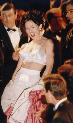 Madonna arrives for the premiere of her film 'In Bed with Madonna' in 1991