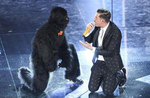 Douze points: Italy's entry features a man in a gorilla suit, breakdancing