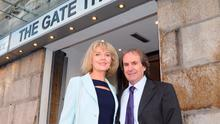 Diane and Chris De Burgh arriving at Gate Theatre for the opening night of Pride and Prejudice