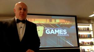 Dara O Briain presents the 2020 Bafta Game Awards from a spare room in his house (PA/Bafta)