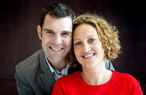 Piano man: Kieran Quinn and Sinead Maguire support each other through their self-employed careers, and love living in Strandhill in Sligo. Photo: Dave Conaghy.
