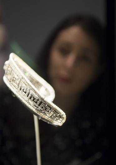 The precious Cartier tiara recovered from the sinking Lusitania in 1915 (David Mirzoeff/PA)