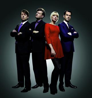 David Mitchell, Charlie Brooker, Lauren Laverne and Jimmy Carr present 10 O'Clock Live