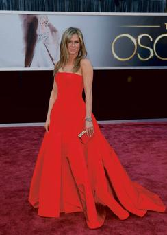 Jennifer Aniston arrives at the 85th Academy Awards in Hollywood