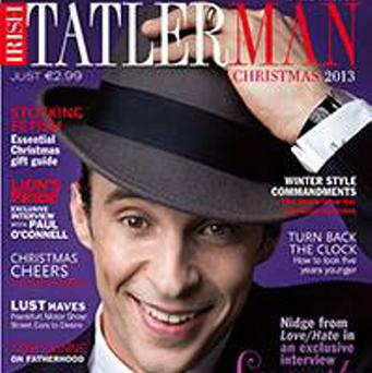 Smooth criminal: Tom Vaughan-Lawlor on the front cover of Tatler Man