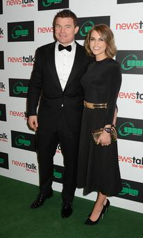 Brian O'Driscoll and Amy Huberman pictured at his testimonial dinner earlier this month
