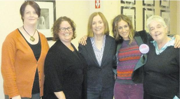Irish connection: Sarah Jessica Parker (second from right) with friends and family of Kalie Gill